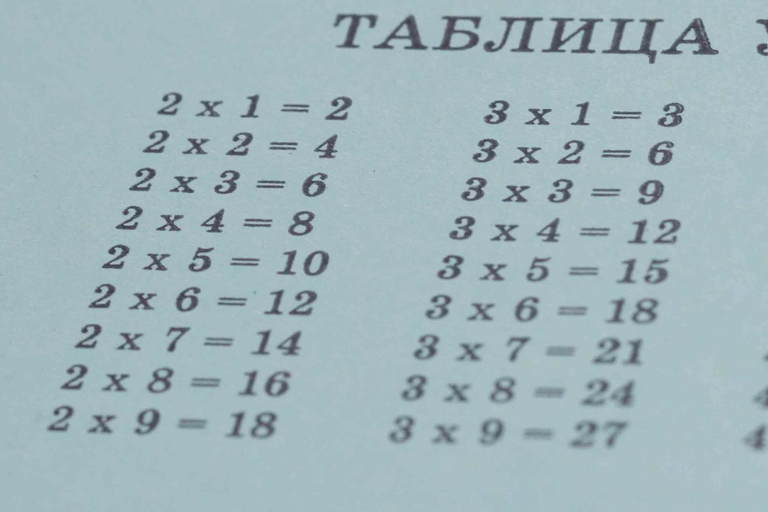 foto tablizi umnozheniya